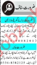 House Staff Jobs Open in Peshawar 2021