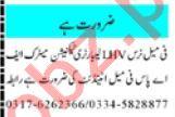 Female Nurse & Laboratory Technician Jobs 2021 in Peshawar