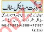 Dispenser & Resident Medical Officer Jobs 2021 in Lahore