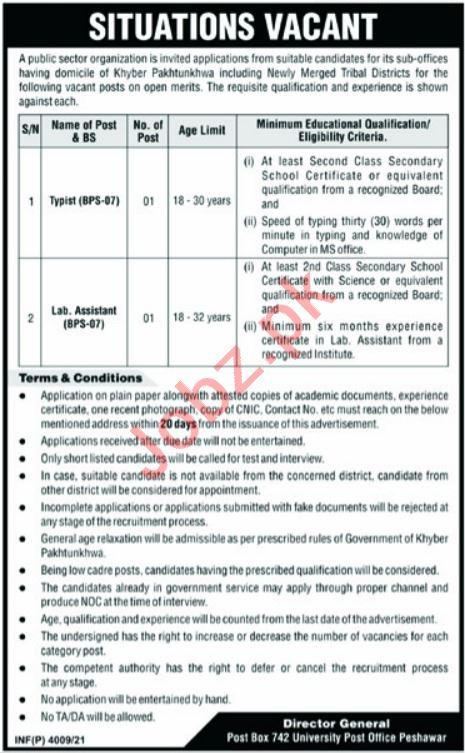 Post Box No 742 University Post Office Peshawar Jobs 2021