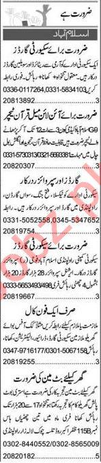 Quran Teacher & Export Manager Jobs 2021 in Islamabad