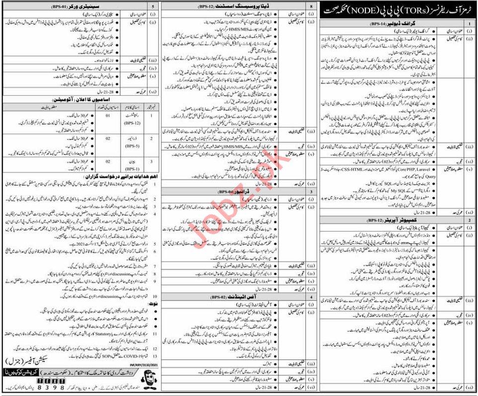 Public Private Partnership PPP Node Karachi Jobs 2021