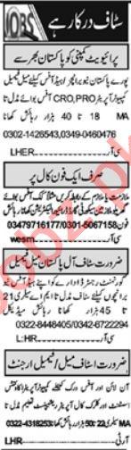 Receptionist & Data Entry Operator Jobs 2021 in Islamabad
