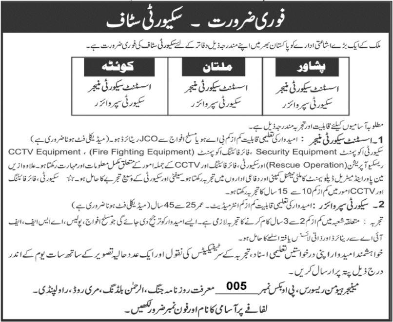 Daily Jang Jobs 2021