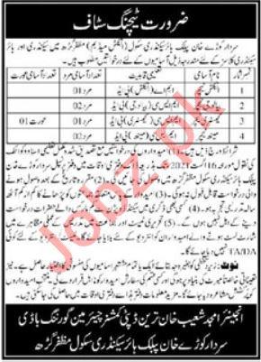 Sardar Kaury Khan Public Higher Secondary School Jobs 2021