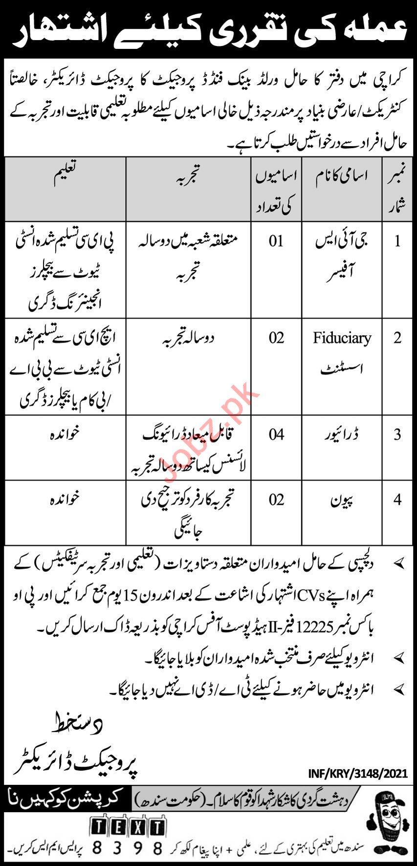 P O Box No 12225 Phase 2 Head Post Office Karachi Jobs 2021
