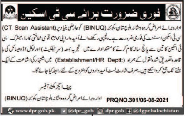 CT Scan Assistant Jobs in BINUQ