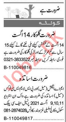 Express Sunday Quetta Classified Ads 8 August 2021