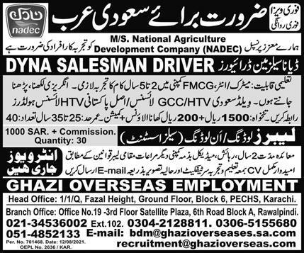 National Agricultural Development Company NADEC Jobs 2021