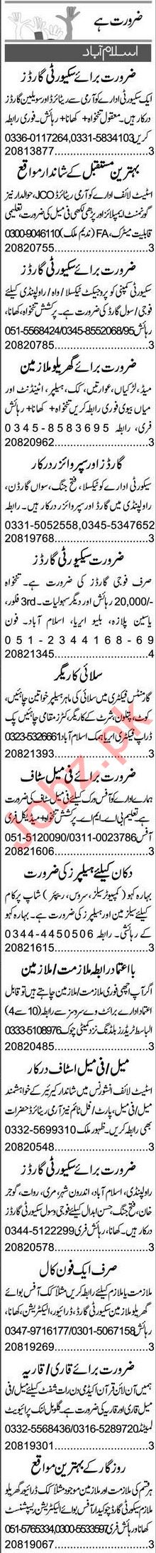 Garments Manager & Sales Manager Jobs 2021 in Islamabad