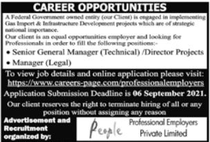 Professional Employers Private Limited Jobs 2021 In Lahore