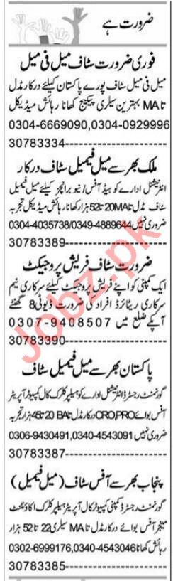 Express Sunday Rahim Yar Khan Classified Ads 22 August 2021