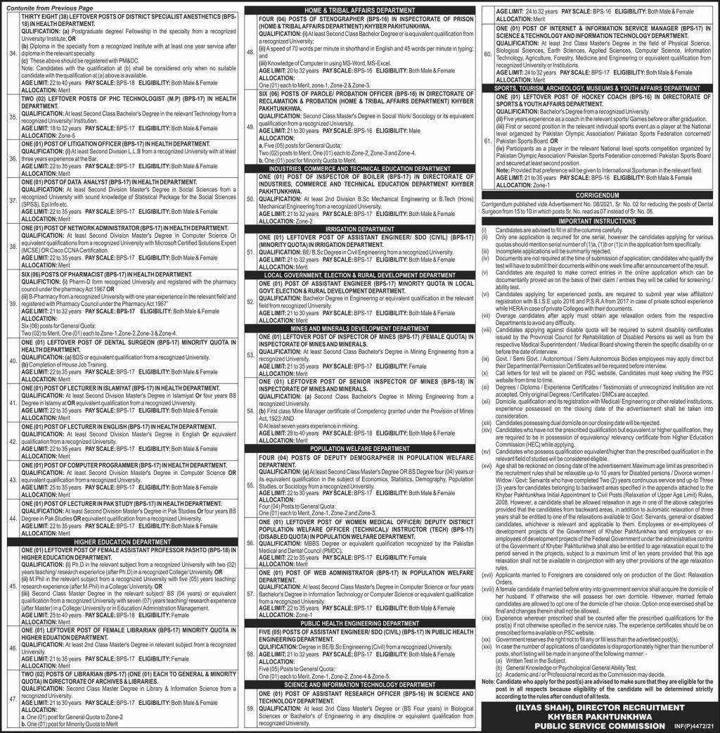 KPPSC 29th August Latest Jobs 2021