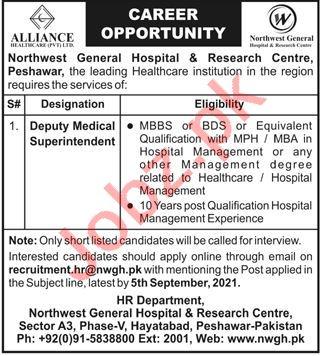 Northwest General Hospital & Research Centre Peshawar Jobs