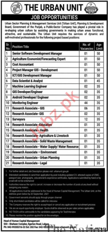 The Urban Unit Lahore Jobs 2021 for Manager & Accountant