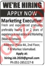 Marketing Executive & Female Marketing Executive Jobs 2021