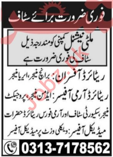 Government Retired Personnel Jobs 2021 In Peshawar KPK