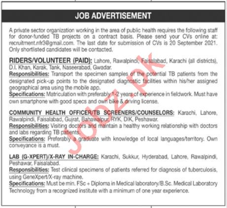 Private Sector Organization Jobs 2021 For Management Staff