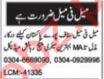 Nawaiwaqt Sunday Classified Ads 5th Sep 2021 for Computer