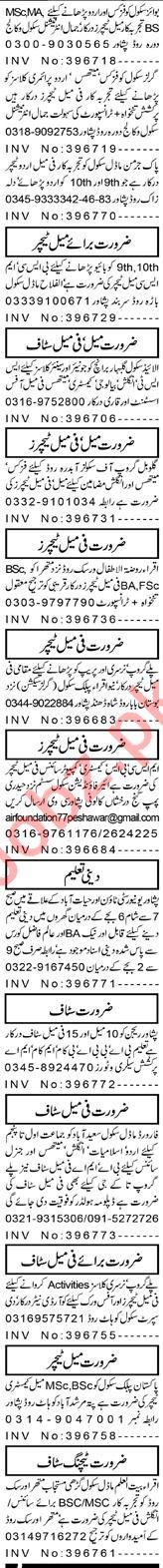Teacher & Lady Teacher Jobs 2021 in Peshawar