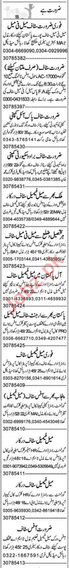 Lady Accountant & Personal Secretary Jobs 2021 in Multan