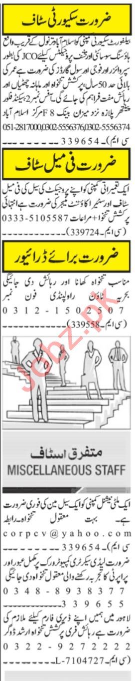 Manager Operation & Account Manager Jobs 2021 in Islamabad