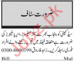 Sales Officer & Area Manager Jobs 2021 in Multan