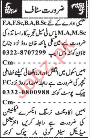 X Ray Technician & Accountant Jobs 2021 in Quetta