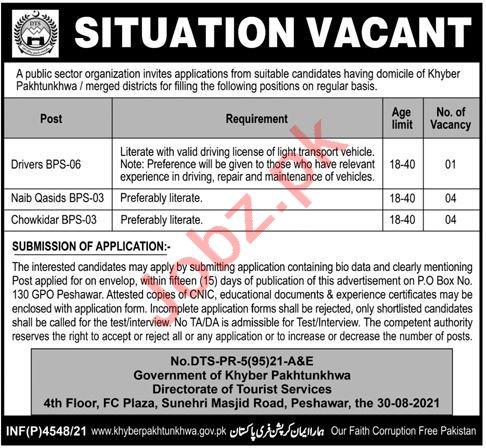 Tourism & Culture Department Peshawar Jobs 2021 for Drivers