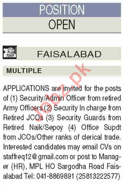 Security Admin Officer & Security Incharge Jobs 2021