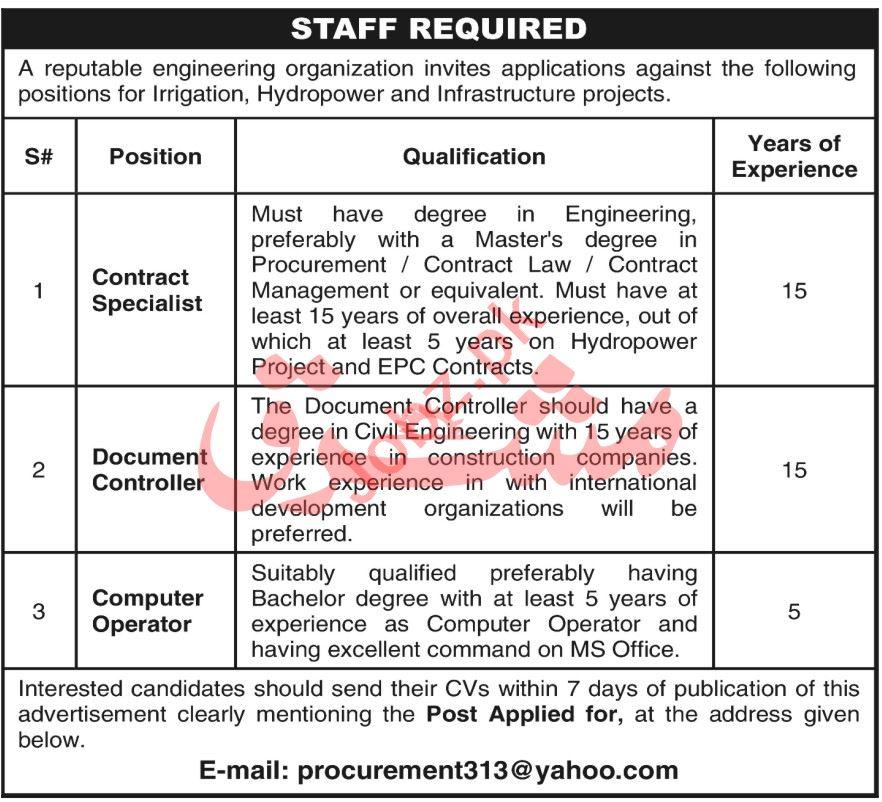 Engineering organization Jobs 2021 In Peshawar KPK