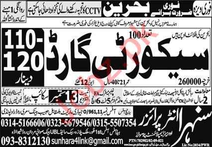 Security Guards Jobs 2021 In Bahrain
