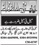 Daily Nawaiwaqt Management Jobs 2021 in Islamabad