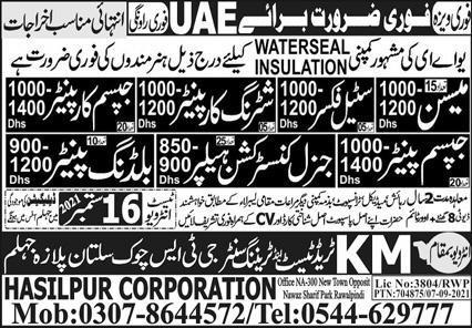 Construction Staff Jobs in UAE