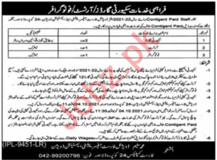 Divisional Forest Officer Publicity Extension Division Jobs