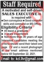 Sales Executive Jobs 2021 in Karachi
