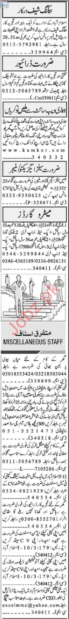 Sales Executive & Quantity Surveyor Jobs 2021 in Islamabad
