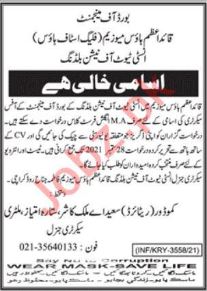 Quaid e Azam House Museum Karachi Jobs 2021
