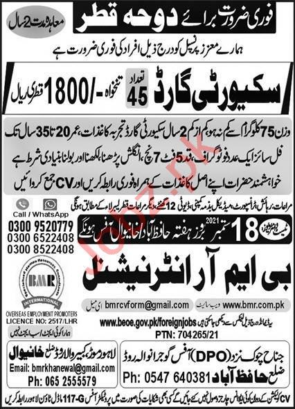 Security Guards Jobs Career Opportunity in Qatar 2021