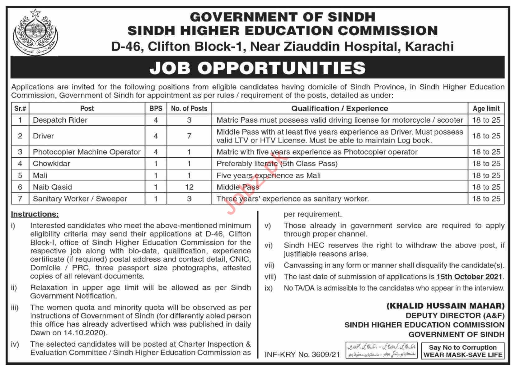 Sindh Higher Education Commission SHEC Karachi Jobs 2021