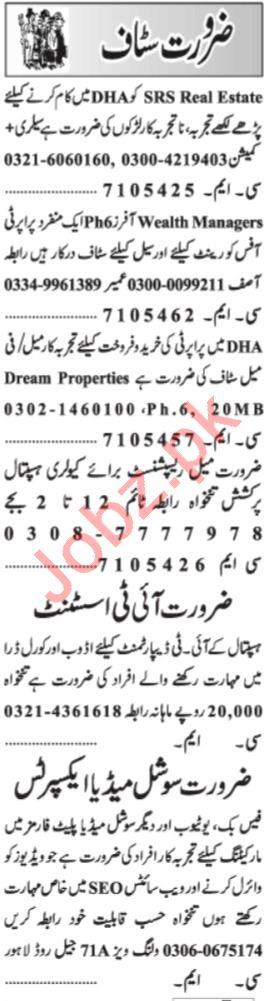 Social Media Expert & IT Assistant Jobs 2021 in Lahore