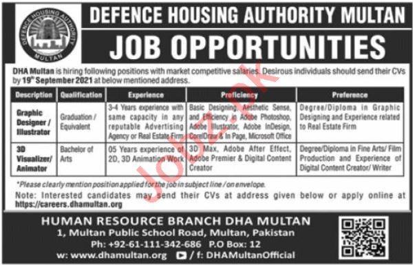 Defence Housing Authority Multan Jobs 2021