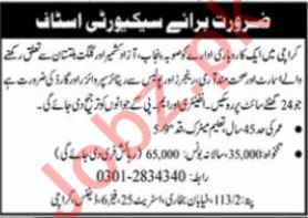 Security Staff Jobs 2021 In Karachi