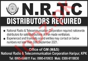 National Radio & Telecommunication Corporation Jobs 2021