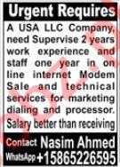 USA LLC Company Jobs 2021 In Karachi