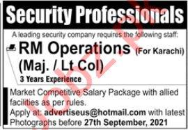 Security Professionals Jobs 2021 In Karachi