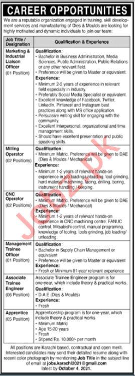 Management Staff Jobs 2021 In Karachi