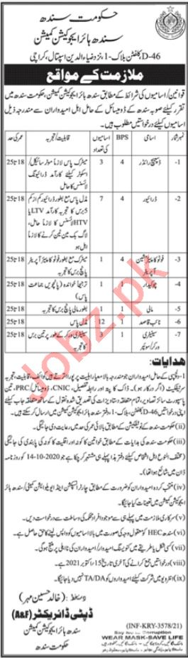 Sindh Higher Education Commission Jobs 2021 In Karachi