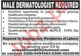 Dermatologist Job 2021 In Lahore