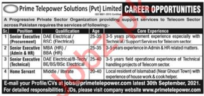Prime Telepower solutions Private Limited Jobs 2021